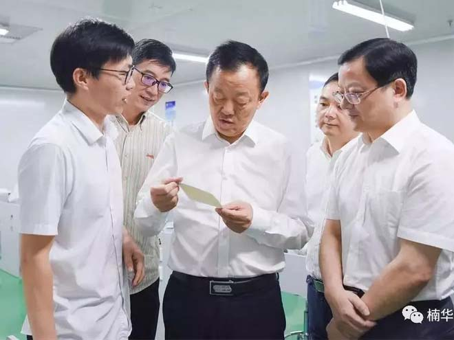On September 2nd, Deputy Mayor Wang Liangchun investigated the construction of the Sensor Industrial Park